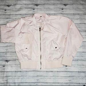 Free people pink bomber jacket